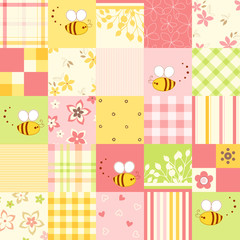 Seamless Cute Bee