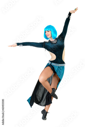 young dancer woman jumping