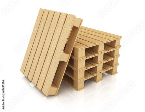 Stack of wooden pallets