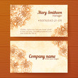 Ornate vintage business cards vector template