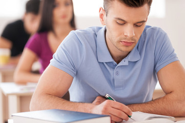 Confident student.