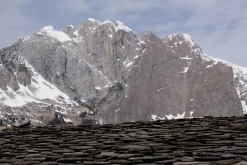 Toiture. Maurienne. Savoie