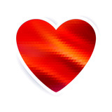 Red mosaic heart. Good for Valentine's Day design.