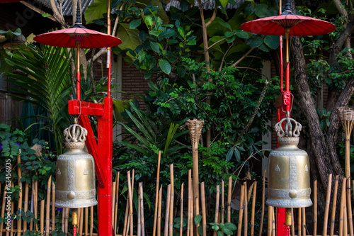 Ancient bronze temple bells, Chiang Mai