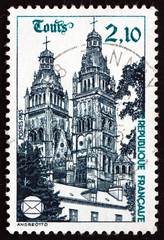 Postage stamp France 1985 Tours Cathedral