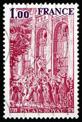 Postage stamp France 1979 Royal Palace, 1789