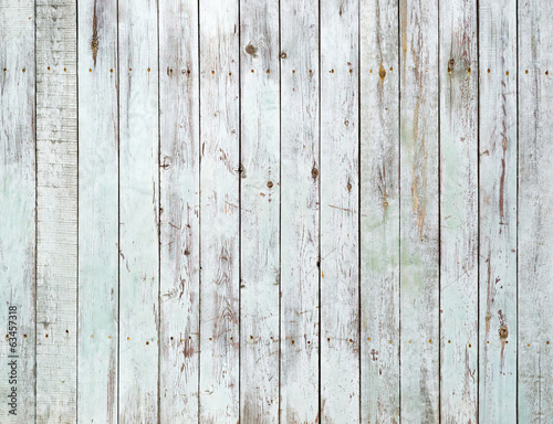Vintage white wooden wall background - 63457318
