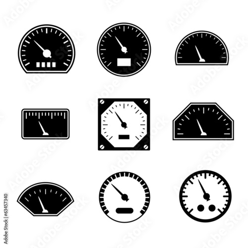 Set icons of speedometers
