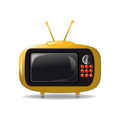Cute tv animation vector