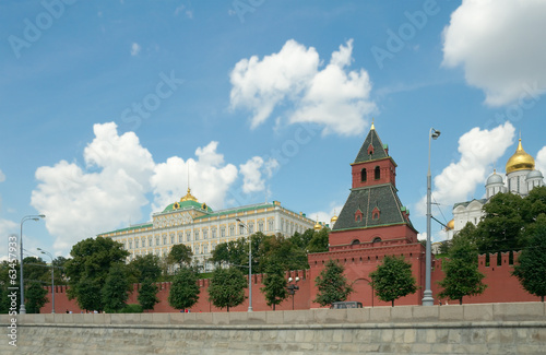 View of Moscow Kremlin from Moscow river, Russia