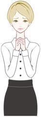 女性 祈る 心配