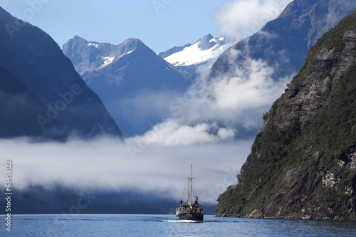 Milford Sound in Fiordland National Park in New Zealand