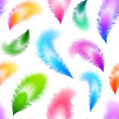 Bright colorful feathers seamless pattern