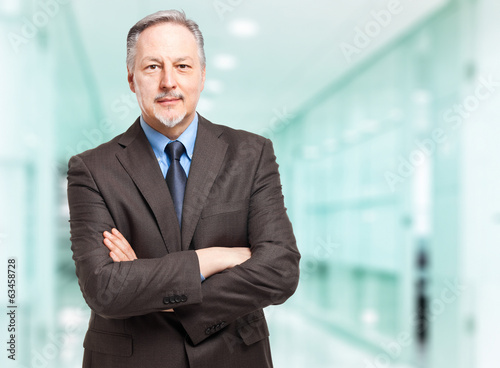Friendly mature businessman