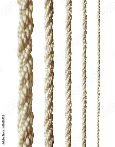 collection of various ropes