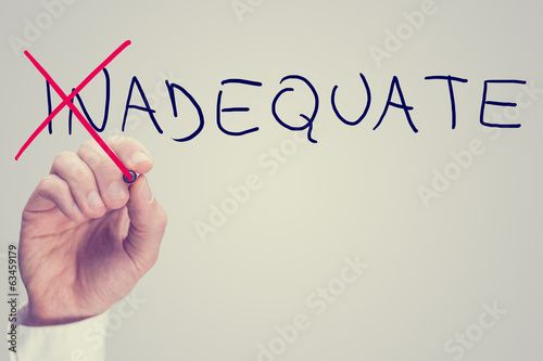 Concept of Inadequate versus Adequate