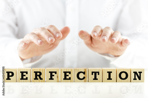 Conceptual image with the word Perfection