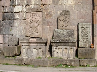 Monastery Goshavank, Armenia, khachkars