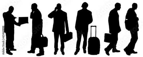 Vector silhouette of a businessman.