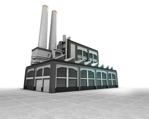 isolated factory as industrial production engine