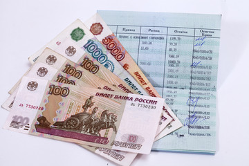 Sberbank of Russia. Passbook. Russian rubles