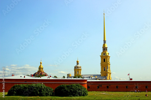 Spire of Peter and Paul Fortress in St. Petersburg