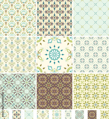 Seamless Patterns Damask