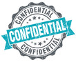 Confidential blue grunge vintage isolated seal