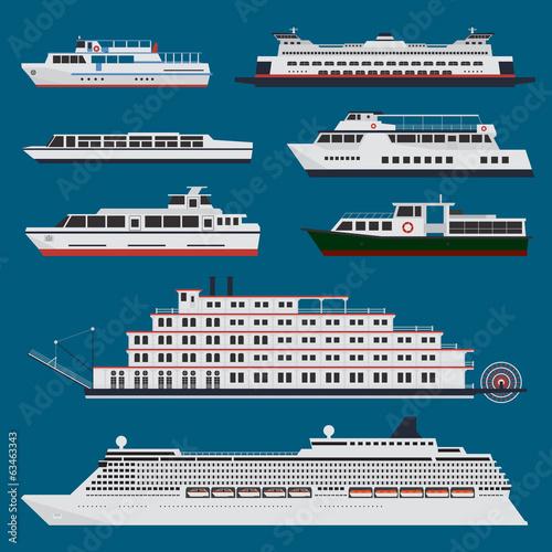 Passenger ships infographic - 63463343