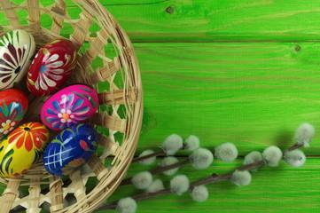 kolorowe pisanki z baziami