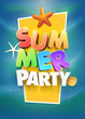 Obrazy na płótnie, fototapety, zdjęcia, fotoobrazy drukowane : Summer Party Poster