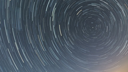 Star trails build up around North 6 hour time lapse  HD shot raw