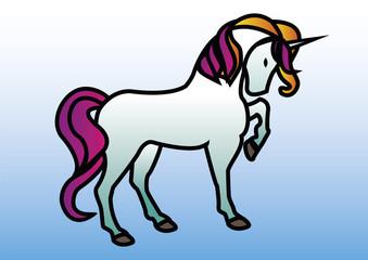 unicorno azzurro