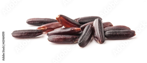 Dark wild rice isolated on white background