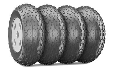 Cartoon-styled car wheels