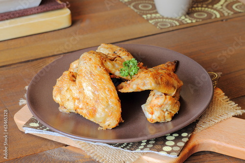 Chicken wings. Alitas de pollo