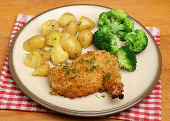 Chicken Kiev with Vegetables