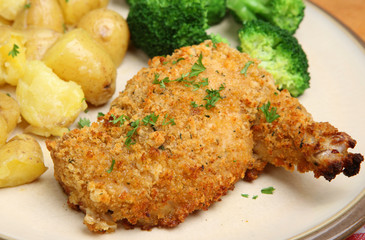 Chicken Kiev Breast with Vegetables