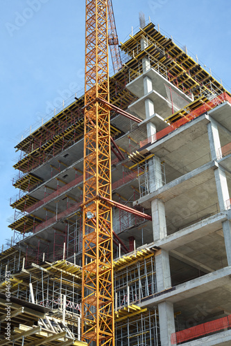 High-rise building under construction.