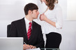 Businesswoman Seducing Boss In Office
