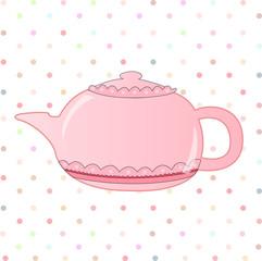 Nice morning pink teapot