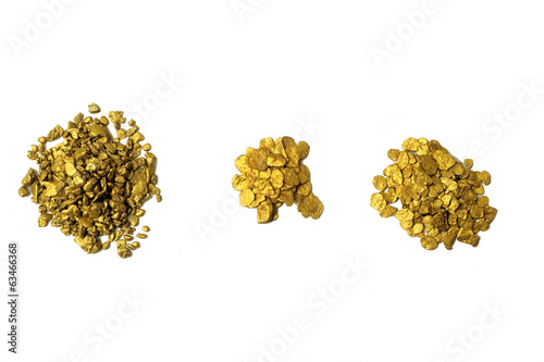lots of glitter and alluvial gold nuggets