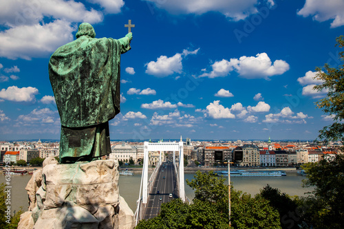 The Monument to Bishop Gellert in Budapest, Hungary