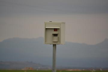 Radar de control de velocidad en una carretera