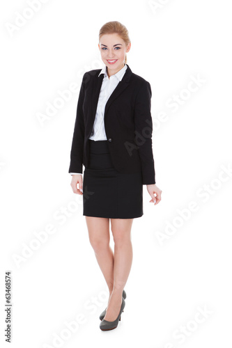canvas print picture Happy Young Businesswoman