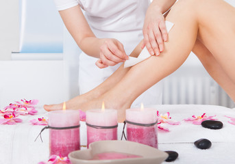 Woman Getting Thigh Massage