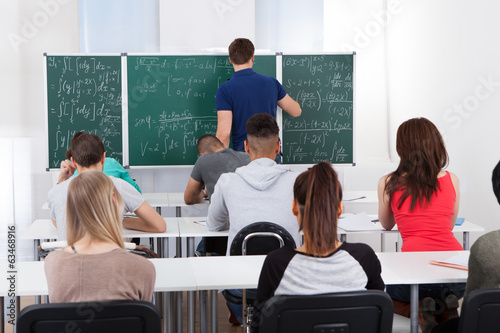 Teacher Teaching Mathematics To University Students