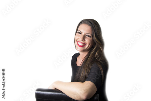 The perfect smile / teeth (beautiful woman portrait)
