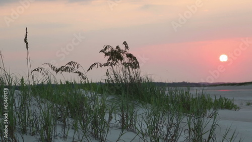 Sunrise on inlet between the sea and intracoastal waerway