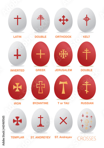 Easter egg with a cross